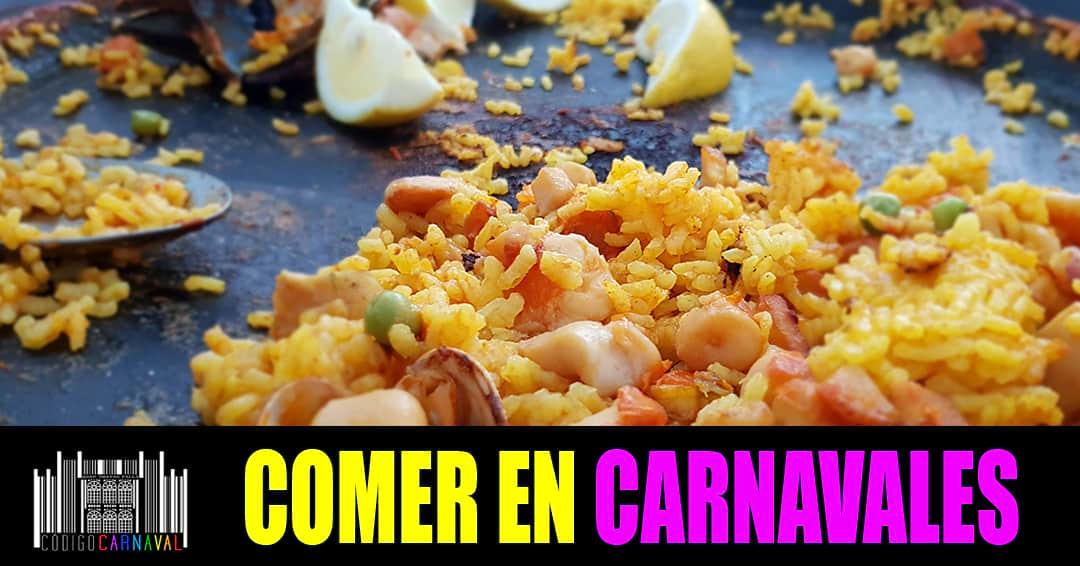 Comer en Carnaval de Cádiz