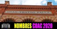 Nombres agrupaciones COAC 2020