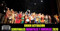 Orden actuacion semifinales infantiles y juveniles 2020